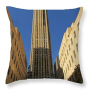 Ge Building  Throw Pillow by Dan Sproul