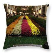 Rockefeller Center In Autumn Throw Pillow