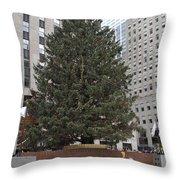 Rockefeller Christmas Tree Throw Pillow