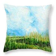 Rockefeller Coastal Marsh Louisiana  Throw Pillow