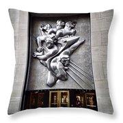 Rockefeller News Throw Pillow