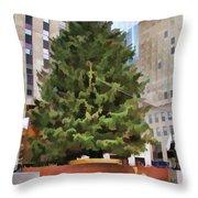 Rockefeller Tree Throw Pillow