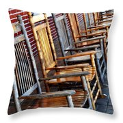 Rockers In Waiting Throw Pillow
