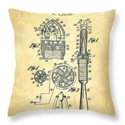 Rocket Apparatus Patent From 1914-vintage Throw Pillow