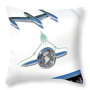 Rocket Car Throw Pillow