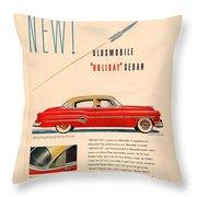 Rocket Oldsmobile Throw Pillow