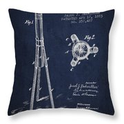 Rocket Patent Drawing From 1883 Throw Pillow