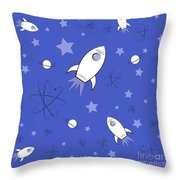 Rocket Science Dark Blue Throw Pillow