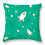 Rocket Science Green Throw Pillow
