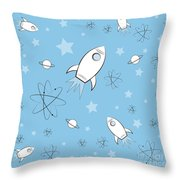 Rocket Science Light Blue Throw Pillow