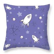 Rocket Science Purple Throw Pillow