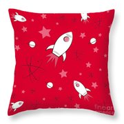 Rocket Science Red Throw Pillow