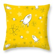 Rocket Science Yellow Throw Pillow