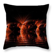 Rocket's Red Glare Bombs Bursting In Air Throw Pillow
