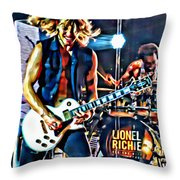 Rockin Guitarist Throw Pillow
