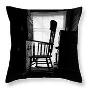 Rocking Chair Throw Pillow by Bob Orsillo