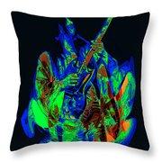 Rocking In Seattle 1978 Throw Pillow