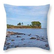 Rockland Maine Coastline Throw Pillow