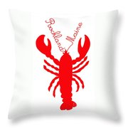 Rockland Maine Lobster With Feelers 20130605 Throw Pillow