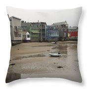 Rockport At Low Tide Throw Pillow
