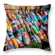 Rockport Flower Garden Throw Pillow