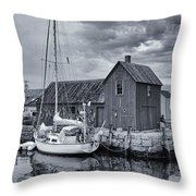 Rockport Harbor Lobster Shack Throw Pillow