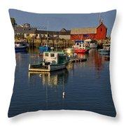 Rockport Harbor No.2 Throw Pillow