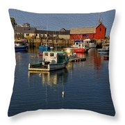 Rockport Harbor No.3 Throw Pillow