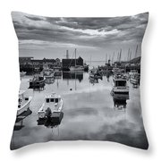 Rockport Harbor View - Bw Throw Pillow