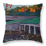 Rockport Roofs Throw Pillow