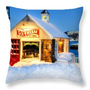 Rockport Winter Throw Pillow