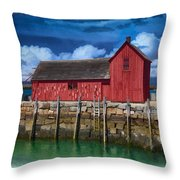 Rockports Motif Number 1 Painting Throw Pillow