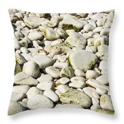 Rocks Abstract Throw Pillow
