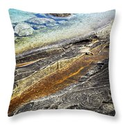 Rocks And Clear Water Abstract Throw Pillow by Elena Elisseeva