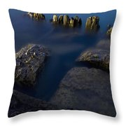 Rocks And Posts Throw Pillow