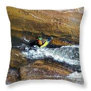 Rocks And Rapids Throw Pillow