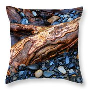 Rocks And Roots Throw Pillow
