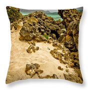Rocks And Sand Of Elafonisi Throw Pillow