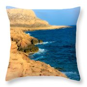 Rocks And Sea Throw Pillow