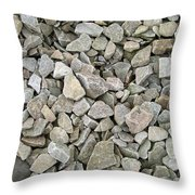 Rocks And Stones Texture Throw Pillow