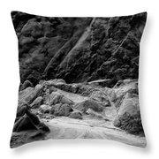 Rocks At Pt. Lobos Throw Pillow