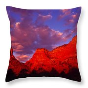 Rocks At Sunset Sedona Az Usa Throw Pillow
