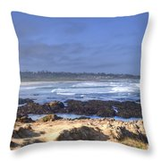 Rocks Before Beach Throw Pillow