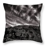 Rocks Clouds Water Throw Pillow