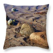 Rocks In A Row Throw Pillow