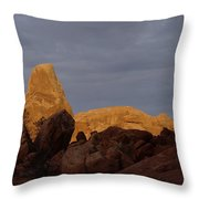 Rocks In Arches National Park Throw Pillow