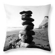 Rocks In Balance Throw Pillow