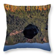 Rocks In Crescent Lake Throw Pillow