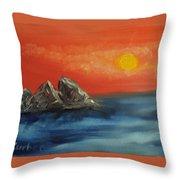 Rocks In The Flathead Lake Throw Pillow