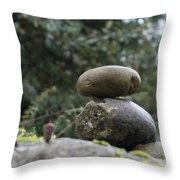 Rocks In The Garden Throw Pillow